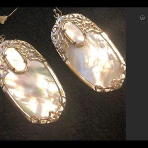 Kendra Scott Emmy mother of Pearl earrings